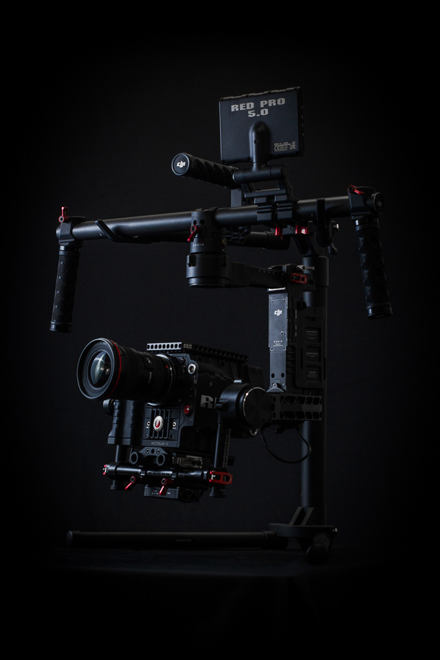 Zangs Films DJI Ronin 3-Axis Stabilized Handled Gimbal with RED Epic and Canon EF 16-35mm f/2.8L II USM